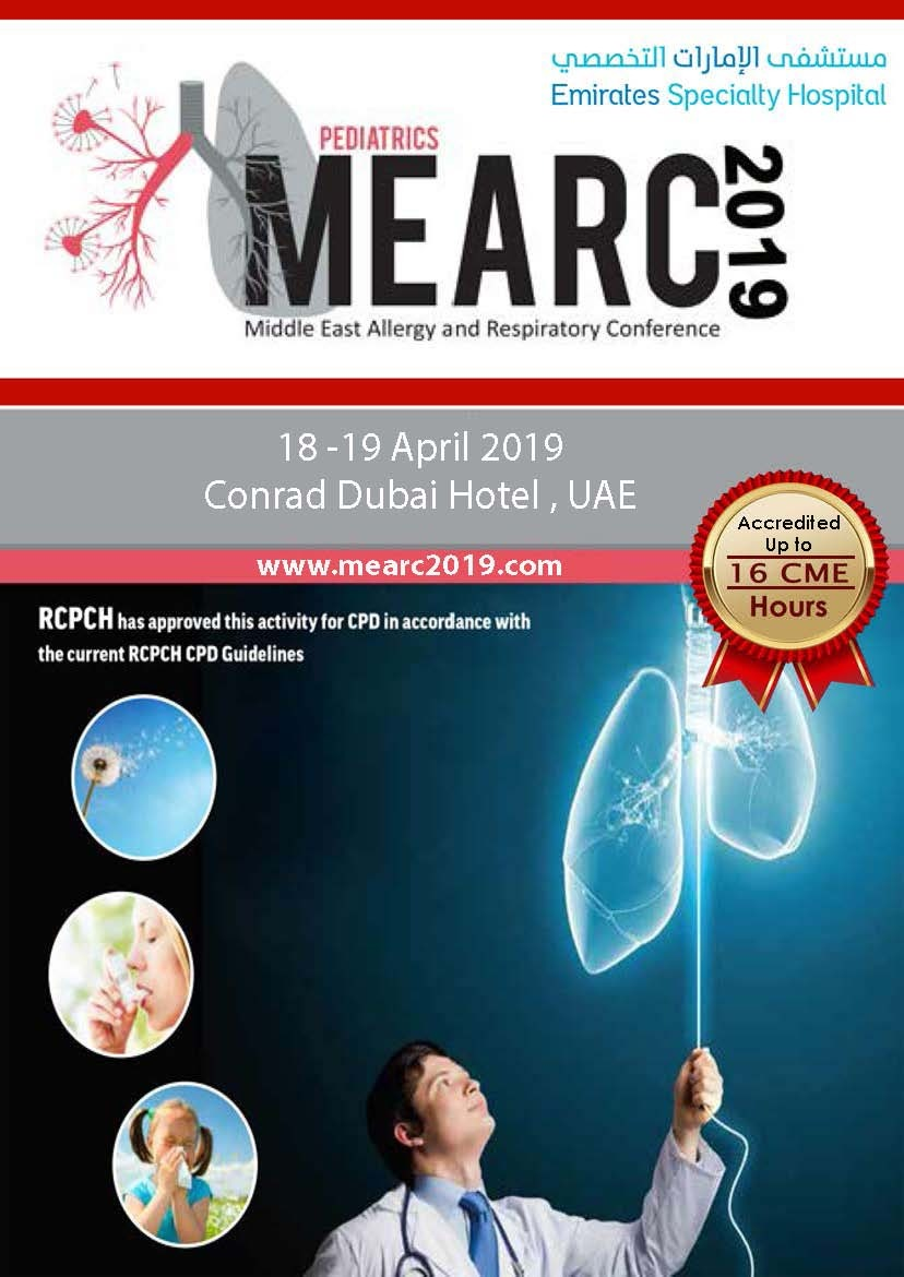 Pediatric Middle East Allergy and Respiratory Conference 2019 (MEARC 2019)