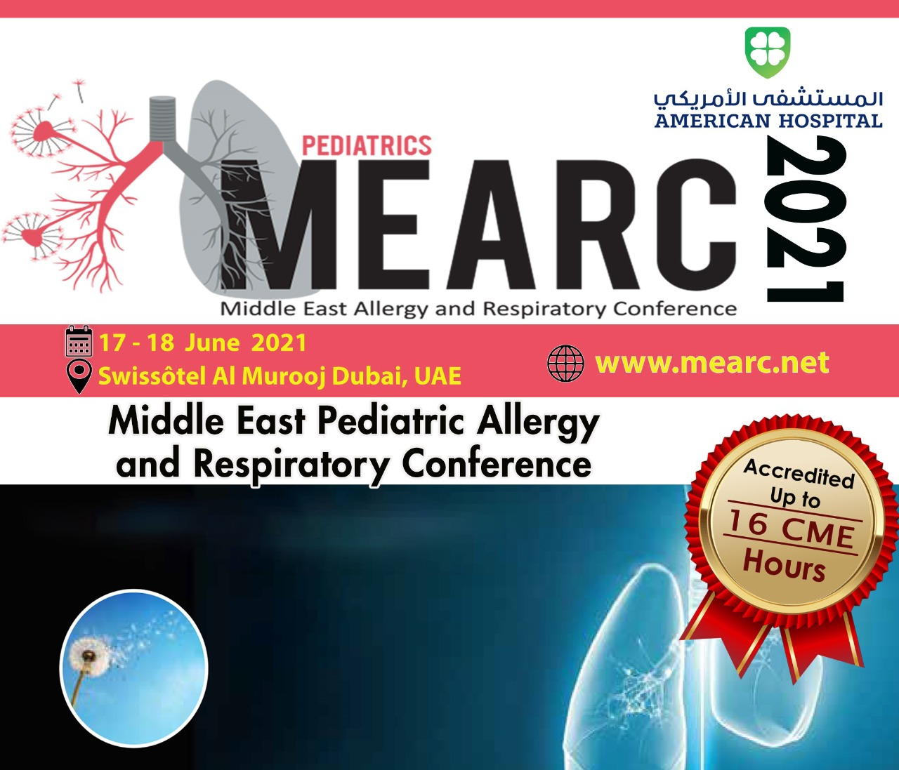 The Pediatric Middle East Allergy and Respiratory Conference 2021 (MEARC 2021)